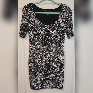 NWOT H&M BLACK AND TAN SPOTTED DRESS